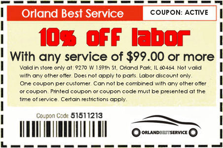 Auto repair labor discount coupon