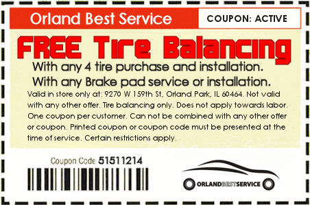 Free tire ballancing coupon orland park