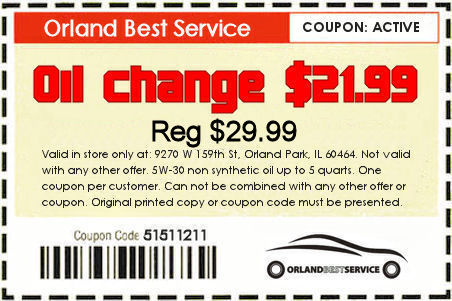 orland best service Oil change coupon